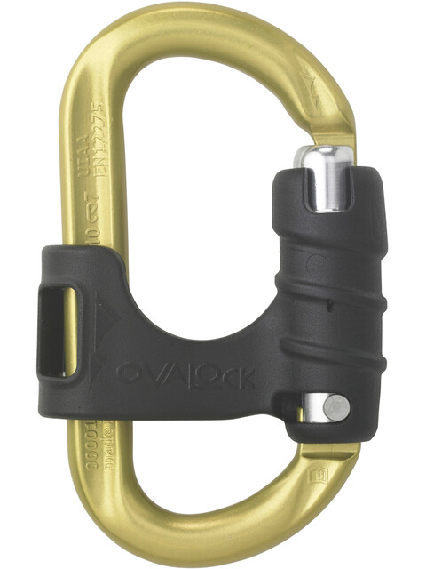 AustriAlpin Ovalock Snapgate Carabiner for safer belaying yellow anodized